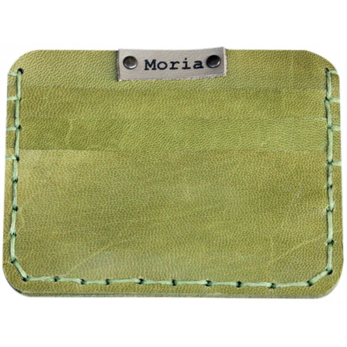 Leather Card Wallet - Olive Green