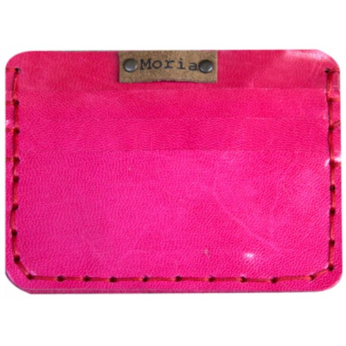 Leather Card Wallet - Pink