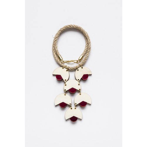 SMiLe By EzGi 6' Necklace - Wood & Red