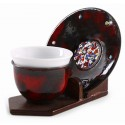 Copper Enameled Turkish Coffee Cup /Espresso Cup - Red