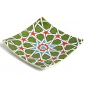 Green Star-transition Patterned Plate
