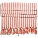 Turkish Hamam Towel / Pestemal with red stripes