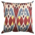 Silk Ikat Pillow Cover - Multi-colored