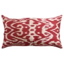 Silk Ikat Pillow Cover - Red