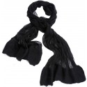 Black and White Silk Based Felt Scarf