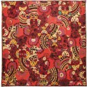 Red Silk Cotton Vintage Bed Cover