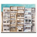 Chaos City in Sisli Oil on Canvas iPad Mini Case/Wallet