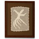 Whirling Dervish Calligraphy Crochet Tableau