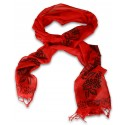 Block Printed Scarf - Red