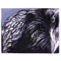The Crow Oil on Canvas iPad Case/Wallet