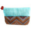 Turquoise Cosmetic Bag