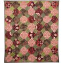 Green and Red Silk Cotton Vintage Bed Cover