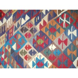 Tribal Conflict Kilim - Weaved by Aşiret Olgur
