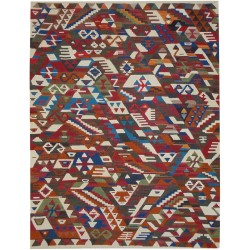 Tribal Conflict Kilim - Weaved by Hazal Köklü