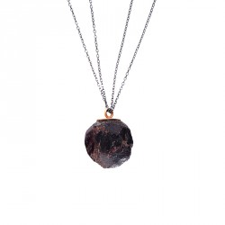 400.000 Years of Istanbul - Necklace with Silver Chain and Lava Stone