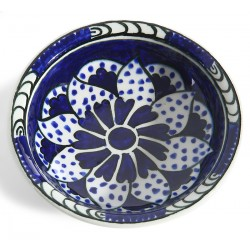 Cobalt Blue Ceramic Plate-1