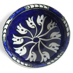 Cobalt Blue Ceramic Plate-2