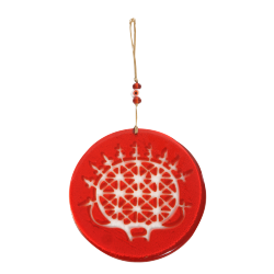 Glass Hittite Sun Disk Wall Decoration