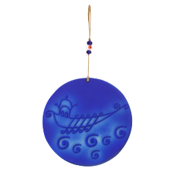 Glass Galley Cobalt Blue Wall Decoration