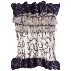 Cream Silk Based Felt Scarf