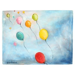 Balloons Oil on Canvas iPad Case / Wallet