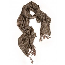 Silk Male Scarf - Brown