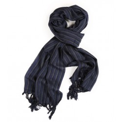 Silk Male Scarf - Dark Blue