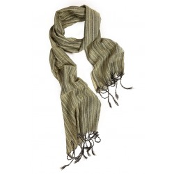 Silk Male Scarf - Green