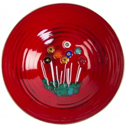 Evil Eye Red Enamel Pot