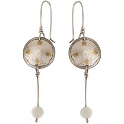 Long Silver Earrings with Motherofpearl