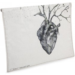 Heart Oil on Canvas iPad Case / Clutch