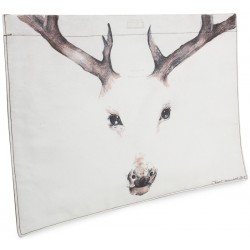 The Deer Oil on Canvas Laptop Case / Clutch