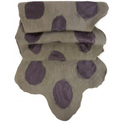 Felt and Silk Scarf - Grey and Purple