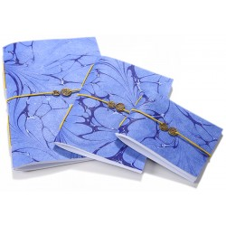 Blue Marbling Art Trio Notebook Set - 2