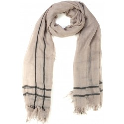Beige Goat Wool and Silk Pashmina Scarf