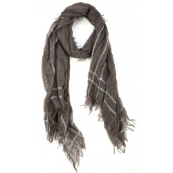 Milky Brown Goat Wool and Silk Pashmina Scarf