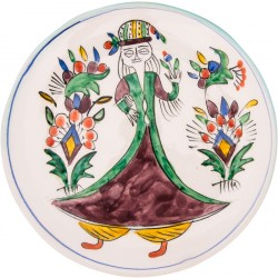 Kütahya Pretty Girls Ceramic Plate - Large Purple