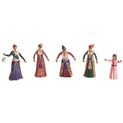 Toy Soldier Ottoman Dancing Women Set - 5 Figures