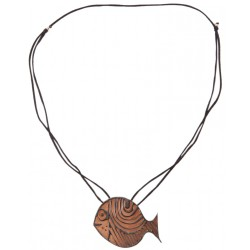 Bedri Rahmi Fish Necklace - Bronze