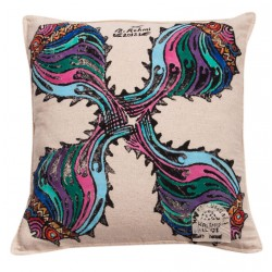 Pillow Slip with Fish Patterns