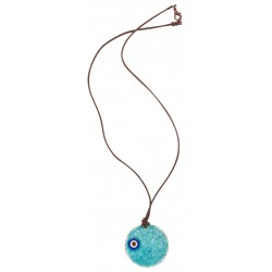 Turquoise Evil Eye Enamel Necklace - 2