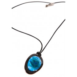Blue Enamel Necklace - 2