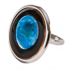 Blue Enamel Ring - S