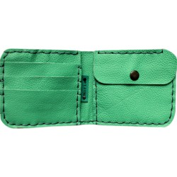 Leather Wallet - Aquamarine
