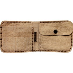 Leather Wallet - Beige