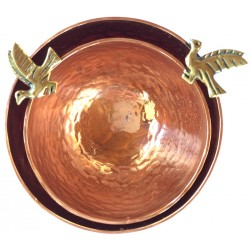 Copper Bowl with Bird - Small