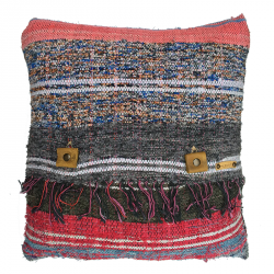 Rag Rug Pillow Case - 1