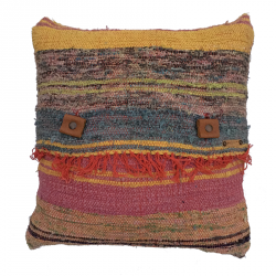 Rag Rug Pillow Case - 4