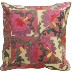 Suzani Pink and Green Pillow Slip