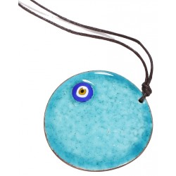 Turquoise Evil Eye Enamel Necklace - 4